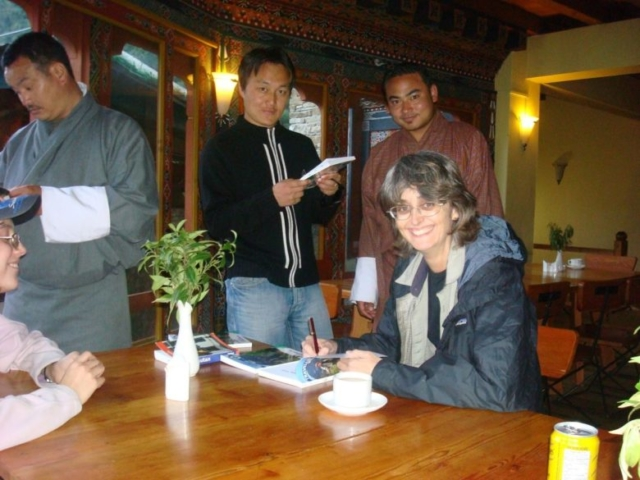 Book signing in Bhutan